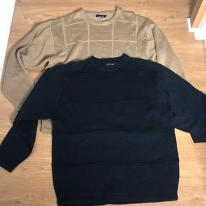 Tan and Black long Sleeve Sweat Shirts Size XXL